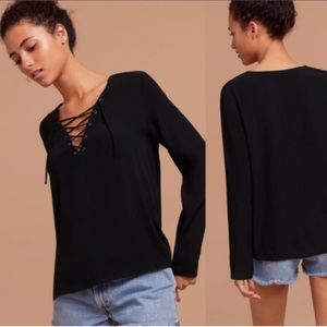 WILFRED FREE Lace Up top
